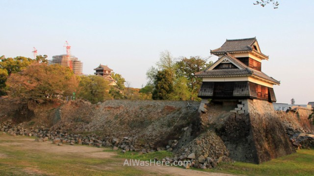 KYUSHU 1. Castillo Kumamoto destruido terremoto Castle destroyed earthquake
