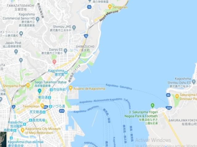 Mapa Kagoshima