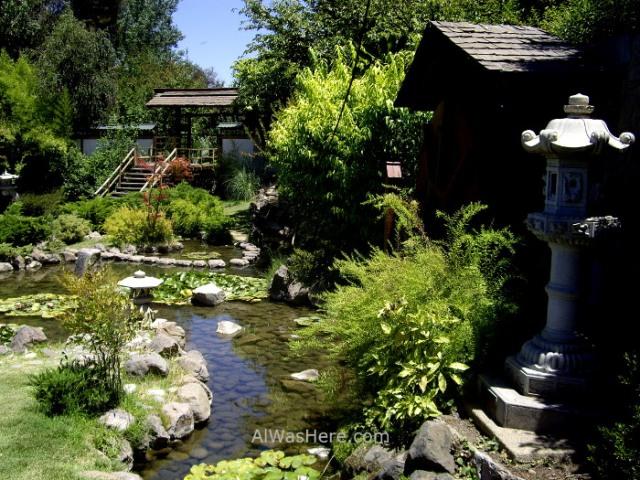 SANTIAGO DE CHILE 1. Cerro San Cristobal Parque Metropolitano Jardin japones Japanese garden