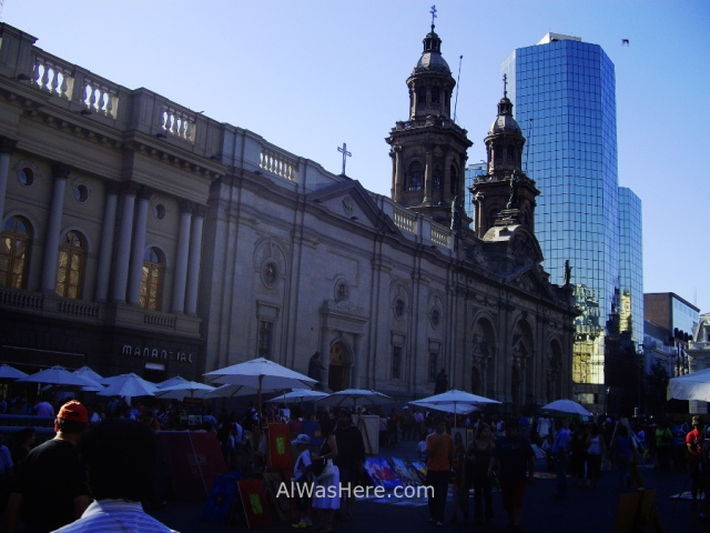 SANTIAGO DE CHILE 3. Plaza de Armas Catedral Metropolitana cathedral