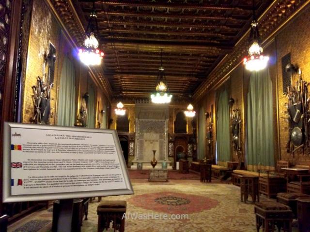 CASTILLO DE PELES 2. sala morisca moorish room castle, Sinaia Rumania Romania