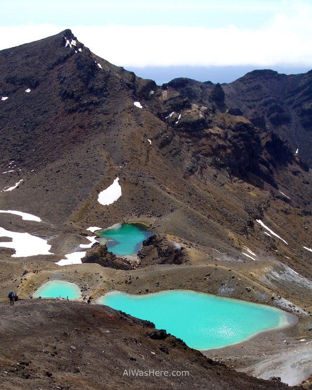 TONGARIRO NATIONAL PARK 5 Alpine Crossing Lagos Esmeralda, Parque Nacional Nueva Zelanda. Emerald Lakes New Zealand
