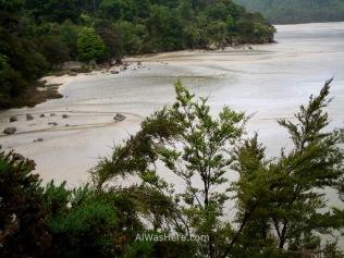 El estuario de Torrent Bay visto desde el High Tidal Track