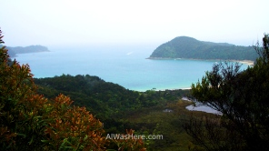 Vista de Anchorage Bay, Abel Tasman NP, Nueva Zelanda