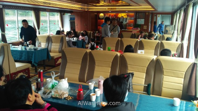 Crucero Río Li (4) River cruise. barcos botes boats interior por dentro inside Guilin