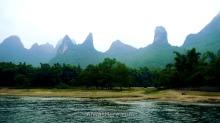 Formaciones en la zona de Yangdi, cercanos a Wangfu Rock