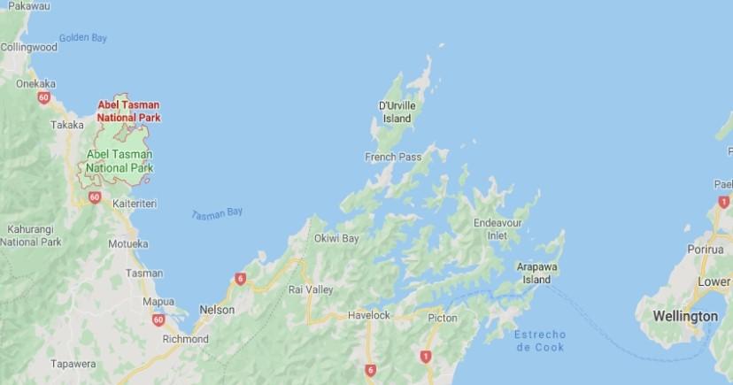 Mapa situación Abel Tasman