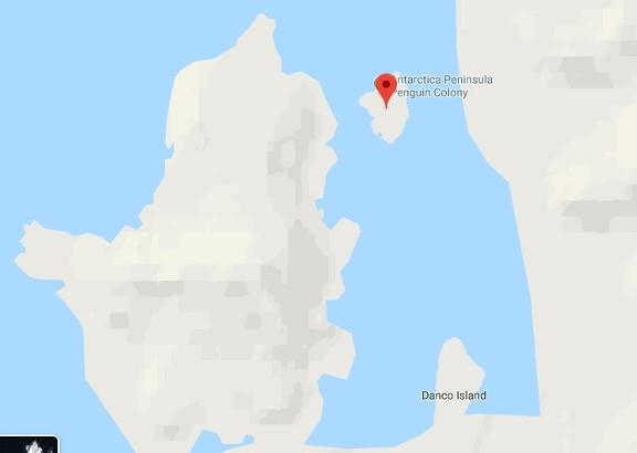 Isla Cuverville Mapa