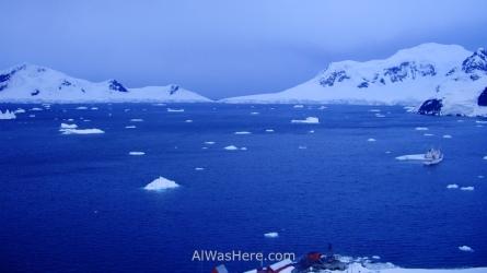 Vista de Bahía Paraíso, Antártida