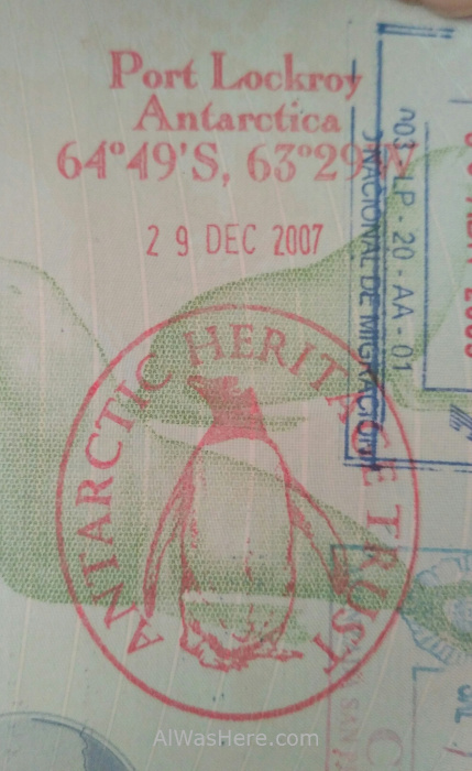 Port Lockroy sello pasaporte passport stamp